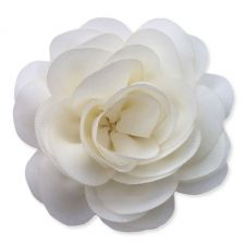 8cm Camellia CREAM Fabric Flower Applique